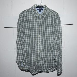 Tommy Hilfiger mens button down shirt size L J84